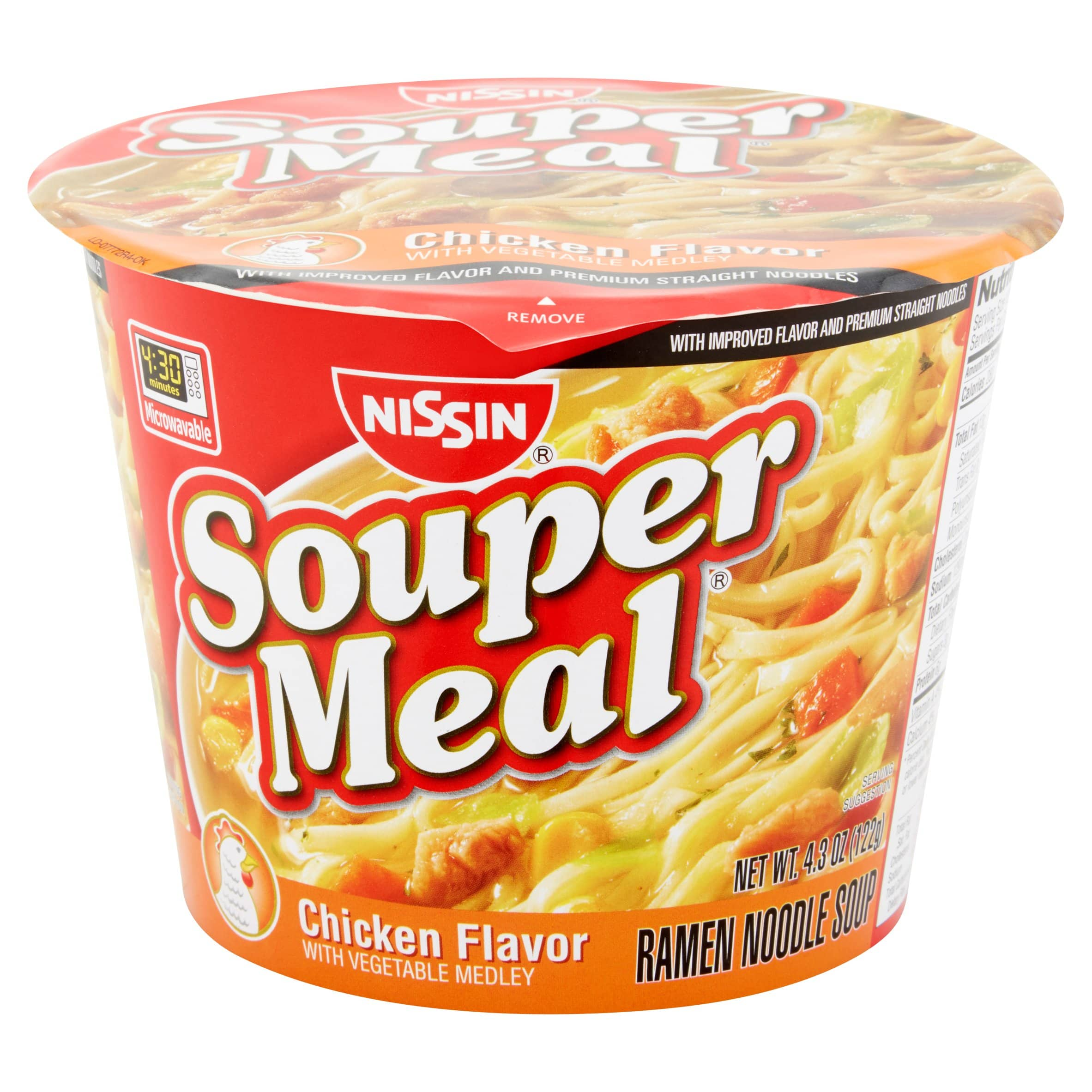 6 pack Nissin Souper Meal, Chicken, 4.3 Ounce: $3 or less w/S&S