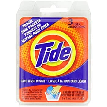 3 count Tide Travel Sink Packets: $2.50 + FS/Prime  (possible slow ship credit)