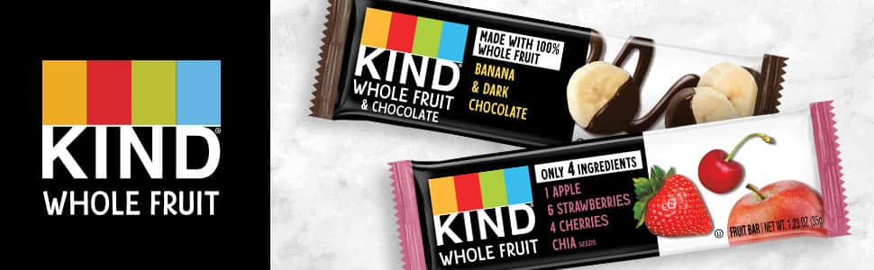 12 count Pressed by KIND Fruit Bars, Strawberry Apple Chia, No Sugar Added, Gluten Free, 1.2 Ounce: $10.30 or less w/S&S