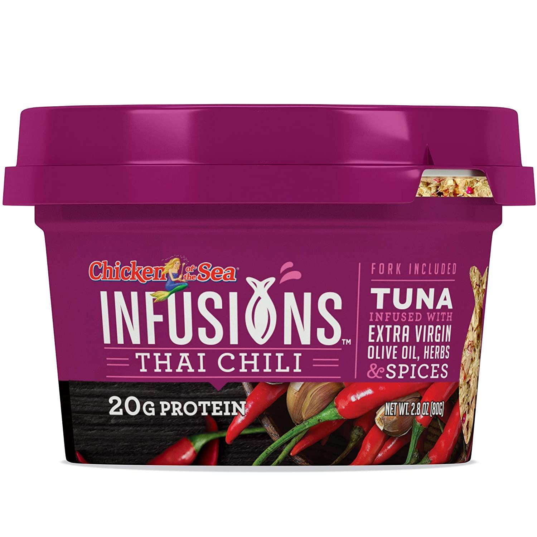 6 pack Chicken of the Sea Infusions Tuna, Thai Chili, 2.8 Oz Cups: $8.38 + FS/Prime