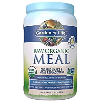 Garden of Life Meal Replacement Vanilla Powder, 28 Servings, Organic Raw Plant Based Protein Powder, Vegan, Gluten-Free: $19.45 or less w/S&S