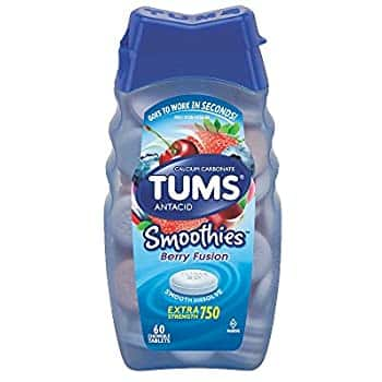 60 count TUMS Smoothies Berry XStrength Antacid Chews: $3.77 or less w/S&S