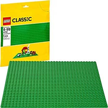 LEGO Classic Green Baseplate 2304 Supplement for Building, Playing, and Displaying LEGO Creations, 10cm x 10cm, Large Building Base Accessory for Kids and Adults: $4.99 + FS/Prime