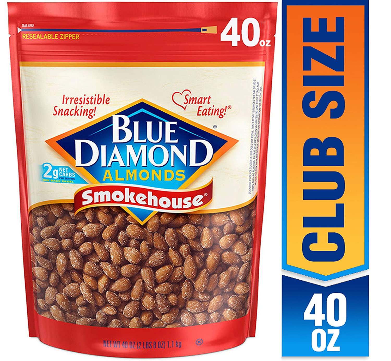 40oz Blue Diamond Almonds, Smokehouse: $8.30 or less w/S&S and A/c