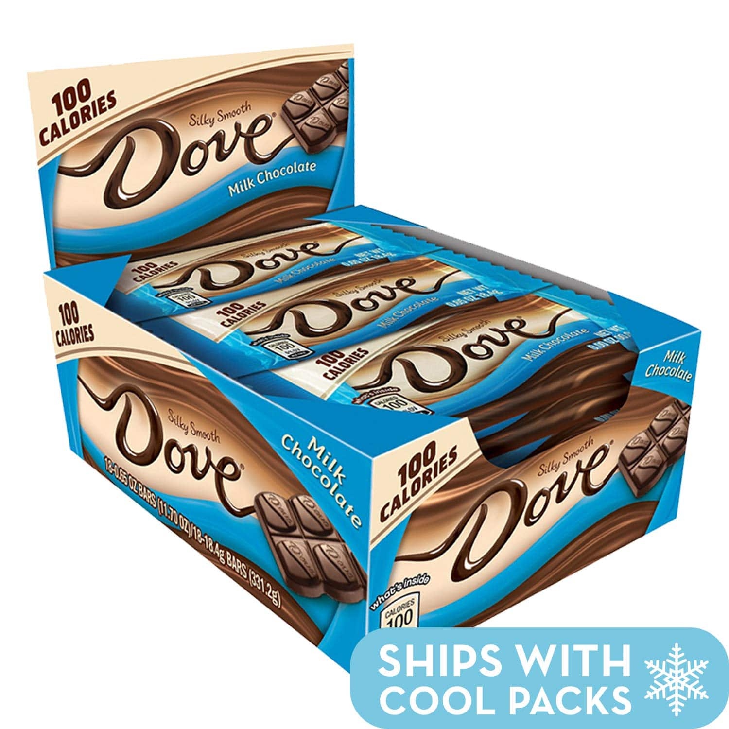 18 count Dove 100 Calories Milk Chocolate Candy Bar 0.65-Ounce Bar: $4.50 or less w/S&S