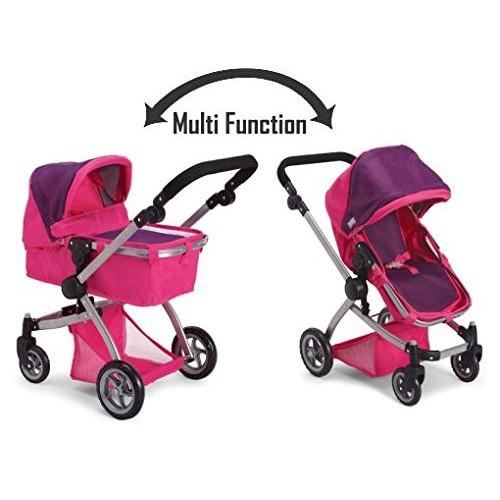 Like Bugaboo Deluxe Doll Stroller Purple & Pink $23.99