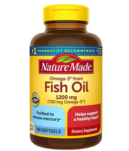 Nature Made Fish Oil 1200mg, 100 Softgels - Amazon $6