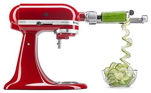 KitchenAid KSM1APC Spiralizer Attachment with Peel, Core and Slice $55.99
