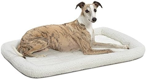 MidWest Deluxe Bolster Pet Bed for Dogs & Cats 36inch white fleece$10.88