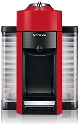 Nespresso Vertuo Evoluo Coffee and Espresso Machine by De'Longhi, Red $87.74