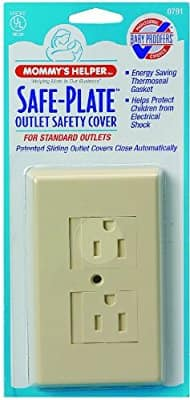 Add-on item: Mommys Helper Safe Plate Electrical Outlet Covers Standard, Almond $1.25