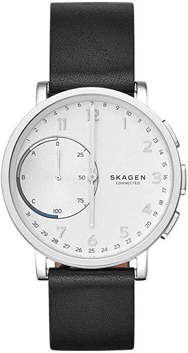 Men's 42mm Hagen Connected Black Leather Hybrid Smart Watch $67.00