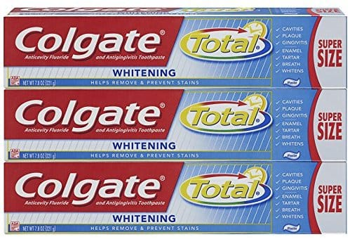 Add-on item Colgate Total Whitening Toothpaste - 7.8 ounce (3 Count) $6.89 when using the 20% clip-on  coupon