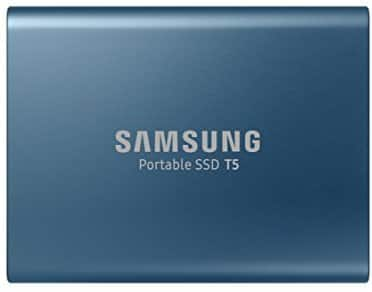 Samsung 250GB T5 Portable Solid-State Drive (Blue) $99.99