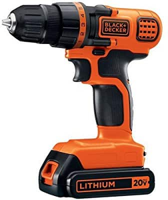 BLACK+DECKER LDX120C 20V MAX Lithium Ion Drill/Driver $34.49