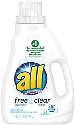 Add-on item: all Liquid Laundry Detergent, Free Clear for Sensitive Skin, 46.5 Fluid Ounces, 31 Loads $2.99
