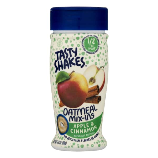 Kroger Plus Customers: $2 coupon for Tasty Shakes Apple & Cinnamon Oatmeal Mix-Ins, 3 oz. $0.49