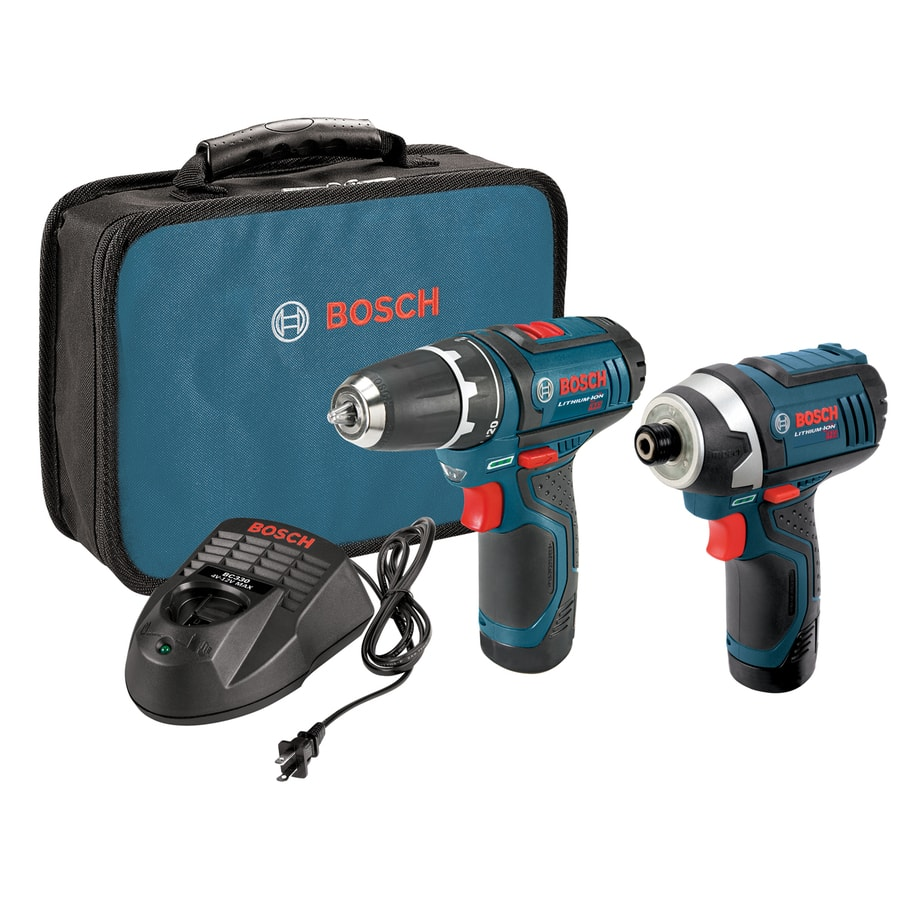 B&M Deal - Bosch 12-Volt 2-Tool Combo Kit (Drill/Driver and Impact Driver) CLPK22-120 with two 12-Volt Lithium-Ion Batteries, 12V Charger and Carrying Case