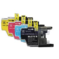 Meritline Deal: 2 sets Brother LC75 (BK,C,M,Y) Compatible Ink Cartridges Combo $6.95 Free Shipping