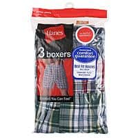 Meritline Deal: 2 Pack Hanes boxers 3 pcs per pack varied color All Sizes (6 Pieces) $16.49 + Free Shipping