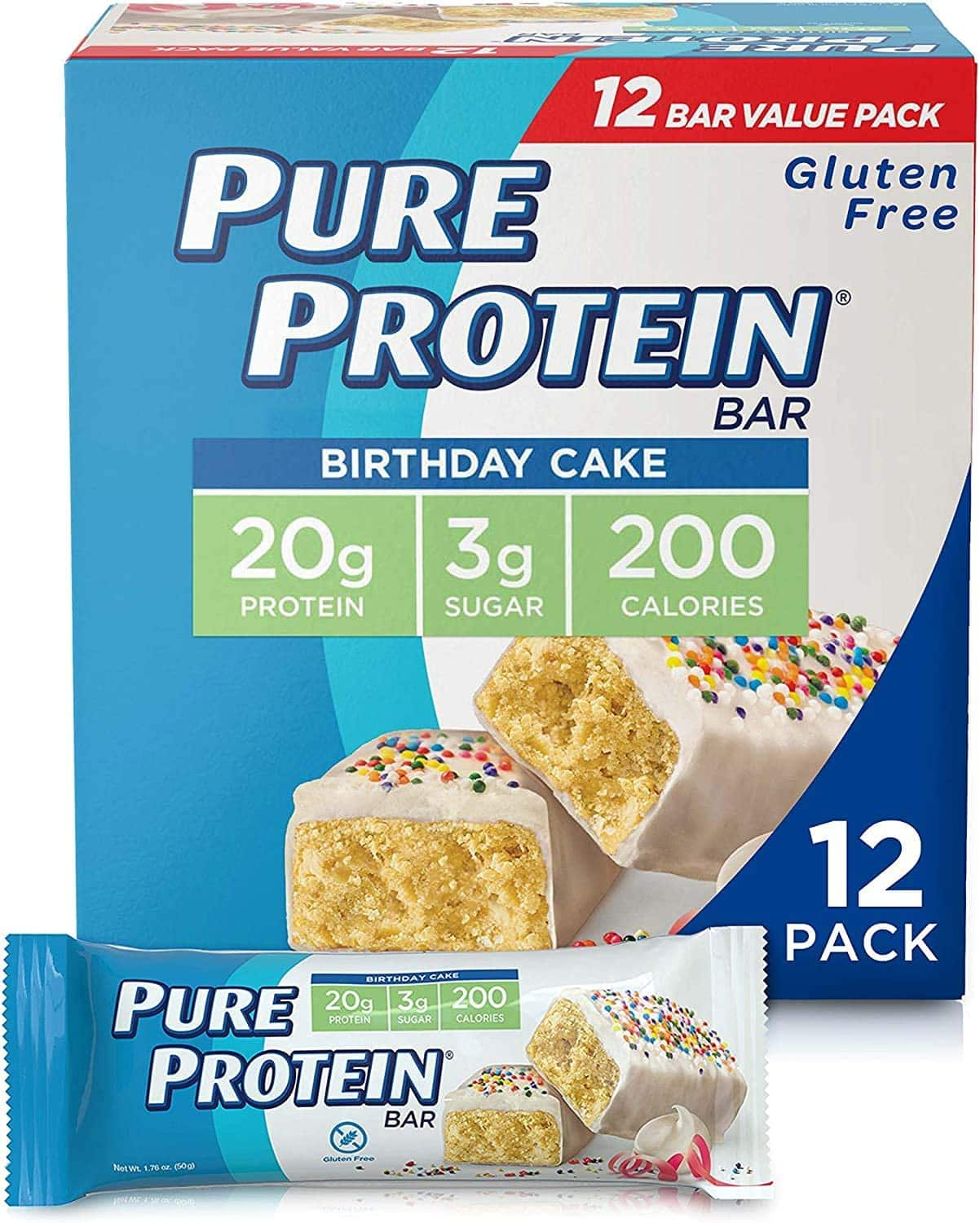Pure Various Flavors - Protein Bars, High Protein, Nutritious Snacks to Support Energy $8.84