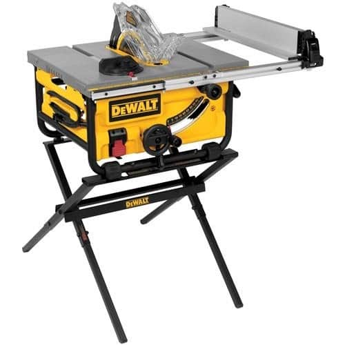 DEWALT DWE7480XA 10-Inch Compact Job Site Table Saw with Guarding System and Stand [With Stand] $299.98