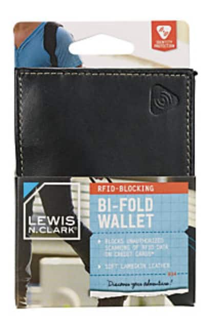 RFID Leather Bi-Fold Wallet - Clearance $3 @ Office Depot/OfficeMax B&M YMMV