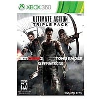 Best Buy Deal: Xbox 360 Ultimate Action Triple Pack (Includes Tomb Raider, Sleeping Dogs, and Just Cause 2) - $15 - Free Store Pickup