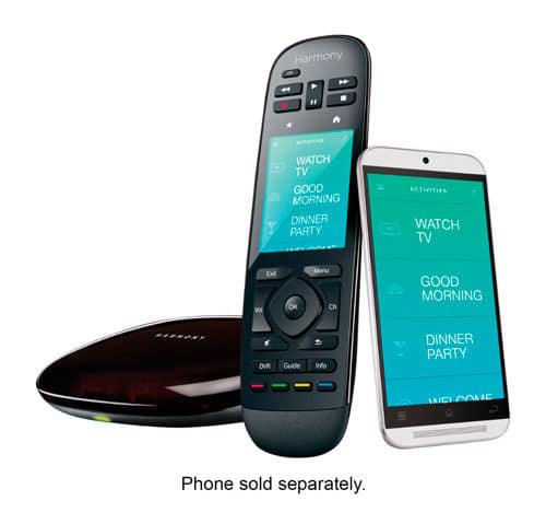 Black Logitech Harmony Ultimate Home Remote AIO (Touch Screen) + Hub + 2x IR blasters with FS $100