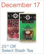 Amazon Deal: Stash Tea - 25% on Amazon today only on 3 items.