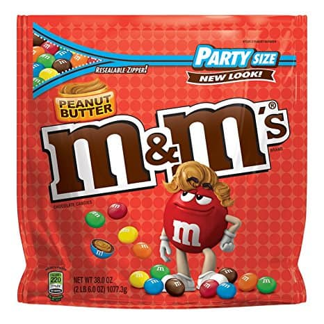M&M'S Peanut Butter Party Size 38-Ounce Bag $8.53 or less w/ S&S + Free Shipping