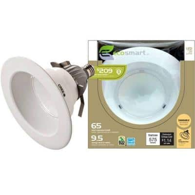 EcoSmart 6 in. 9.5-Watt (65W) LED Downlight at Home Depot $25 Free In-Store Pick Up YMMV