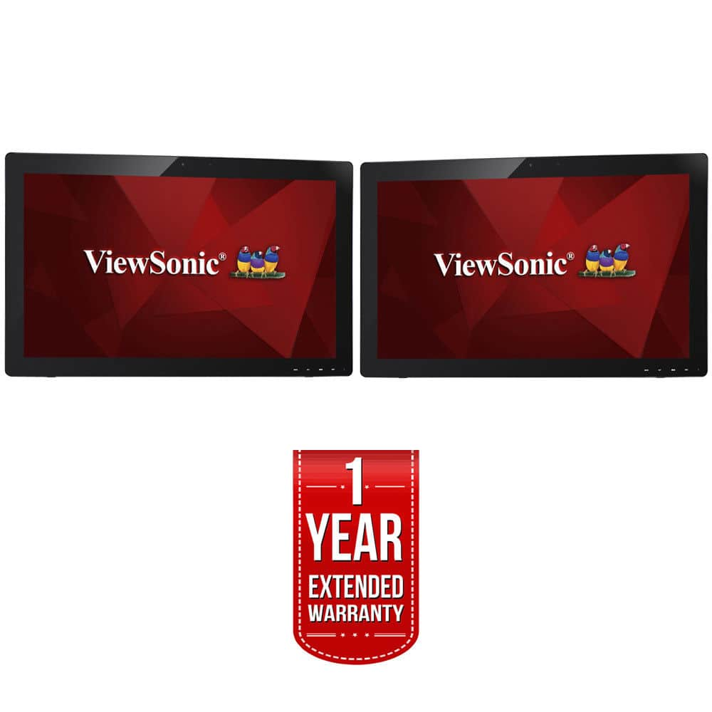 "Two touchscreen ViewSonic 27"" 1080p monitors (model: TD2740) for the price of one + extended warranty on each $578"