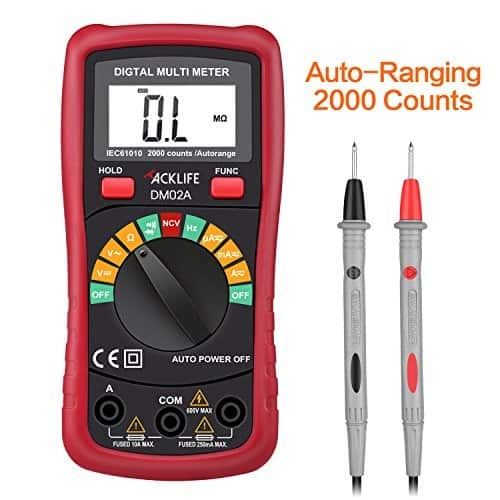 Tacklife DM02A Advanced Digital Multimeter, Auto-ranging Electronic Amp Volt Ohm Voltage Multimeter with Diode and Continuity Test Tester, Backlight LCD Display 6.77$ $6.77