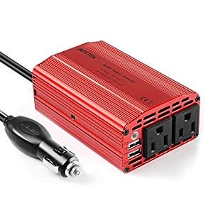 BESTEK 300W Power Inverter DC 12V to 110V AC Car Inverter with 4.2A Dual USB Car Adapter $20