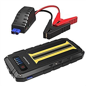 Car Jump Starter RAVPower 300A Peak Current (for All 12V 2.0 L Gas Engines) Quick Charge Power Bank 8000mAh Car Battery Booster, Built-In LED Flashlight $26