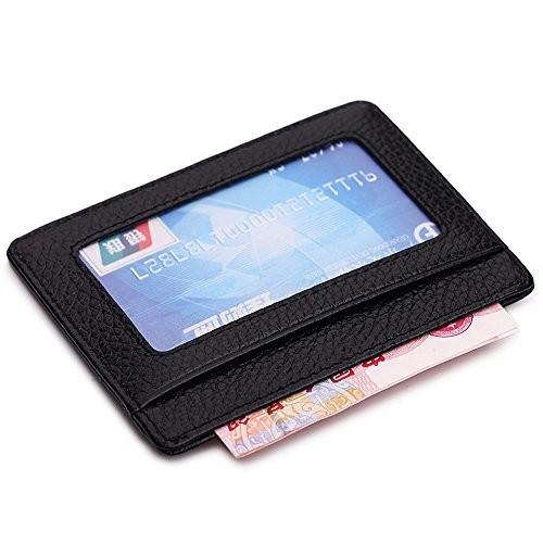 Ultra Slim Leather Front Pocket Wallet $6.99 Prime @Amazon