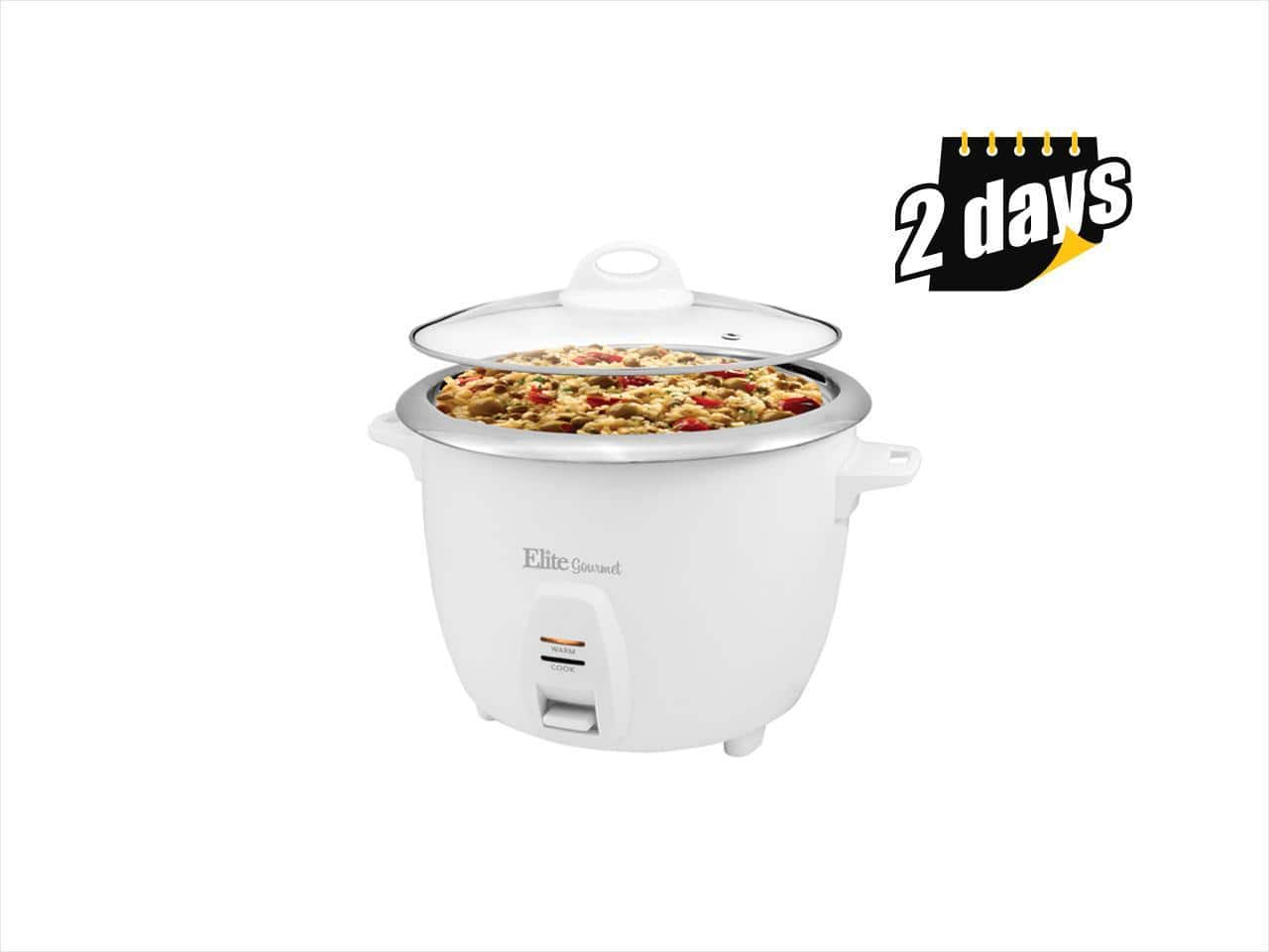 80% off - Elite - Gourmet 20-Cup Rice Cooker - White - Free shipping $9.99