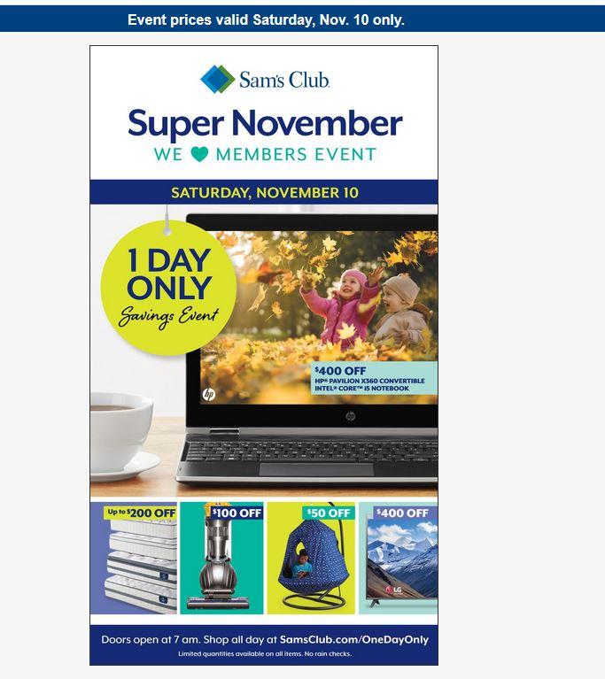 c93ce04b11b Sam s Club - Super November Savings Event