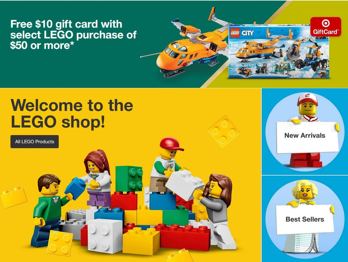 Target - Free $10 gift card with select LEGO purchase of ...