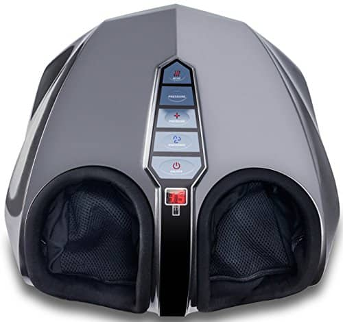Miko Shiatsu Foot Massager With Deep-Kneading, Multi-Level Settings, And Switchable Heat Charcoal Grey $88.79