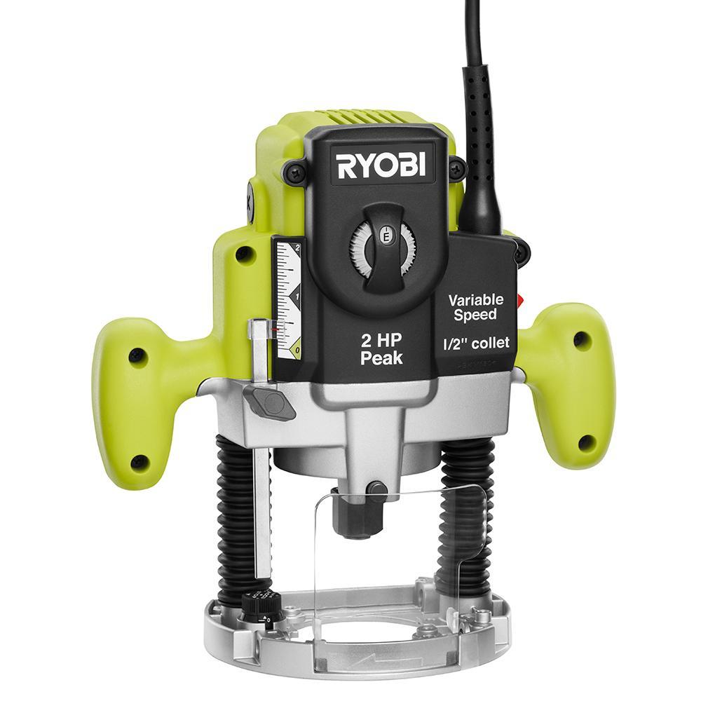 Ryobi 10A 2HP Plunge base router $67 ($59.99 +shipping)