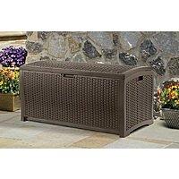 Kmart Deal: Suncast DBW9200 Mocha Wicker Resin Deck Box, 99-Gallon 89.84 or less