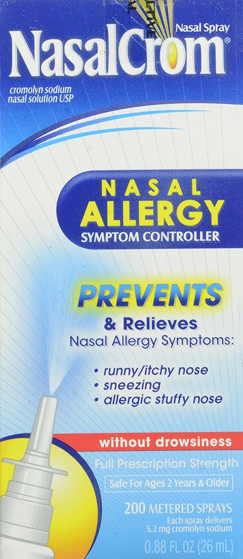 NasalCrom Nasal Allergy Symptom Controller, 200 Metered Sprays, .88 fl oz [1] $9.32