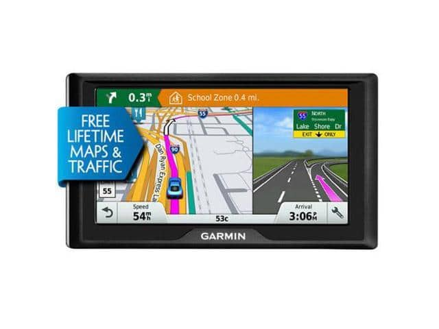 "Garmin Drive 60LMT 6"" GPS Navigator, Free Lifetime Map & HD Traffic Updates $114"