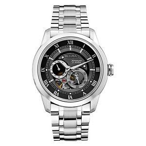 Bulova BVA Series Men's 96A119 Automatic Skeleton Caseback Black Dial 42mm Watch (REFUBRISHED) $149.99