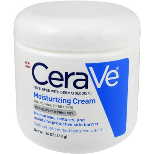 Cerave  (or Cetaphil) 16 oz moisturizing cream (~$6.50) at Target