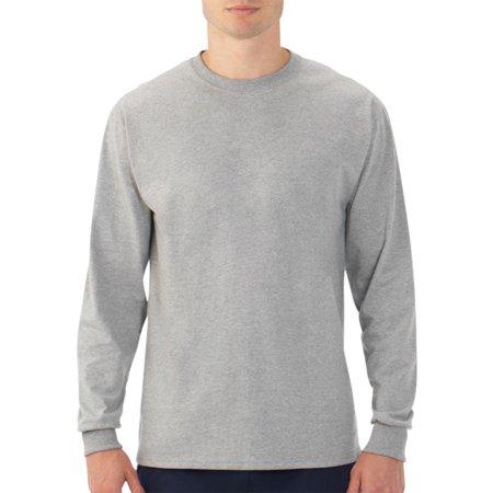 379bb0d6798df Fruit of the Loom Men s Platinum Eversoft Long Sleeve Crew T-Shirt ...