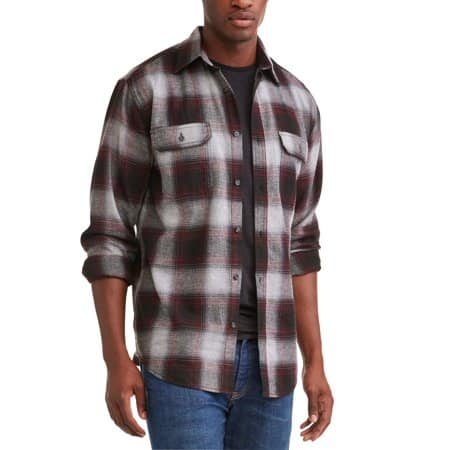 George Men's Long Sleeve Flannel Shirt (Various Colors) $5 + Free Store Pickup
