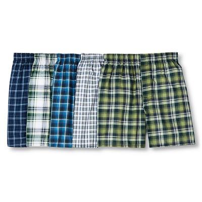 5-Pack Hanes Men's FreshIQ Comfort Flex Waistband Tartan Boxer (Small) $11.88 In Store